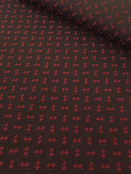 Diamond Head Brocade Red/Black