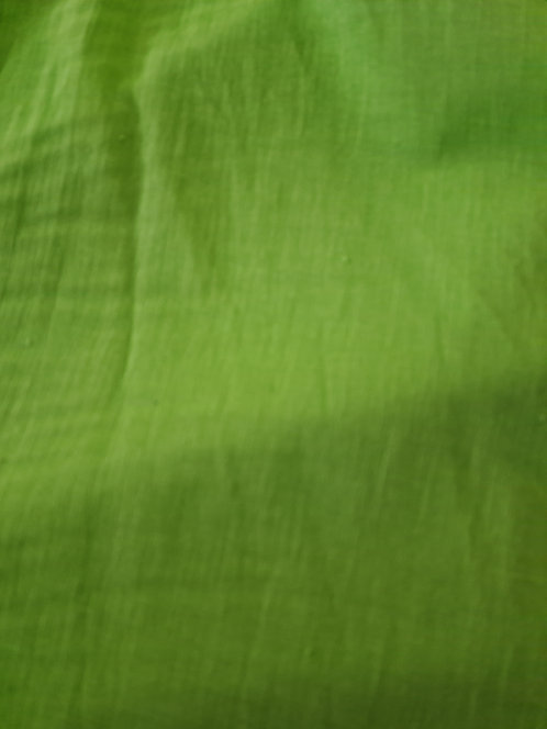 Crinkle Cotton Muslin Lime Green