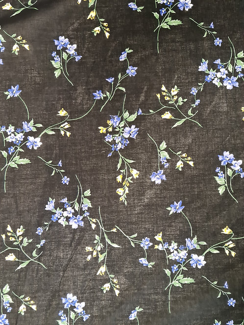 Forget Me Not Cotton Voile