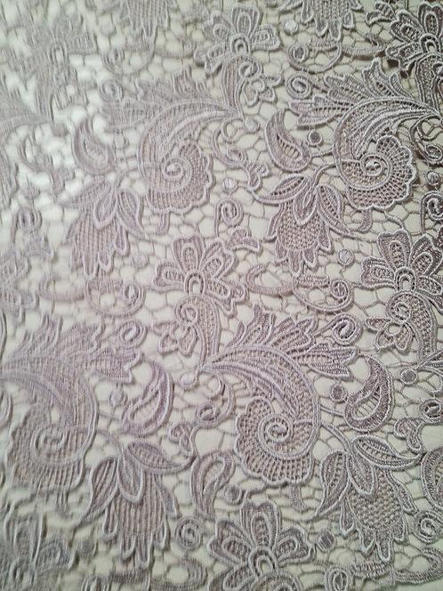 Designer Prints Guipure Lace Dusky Pink