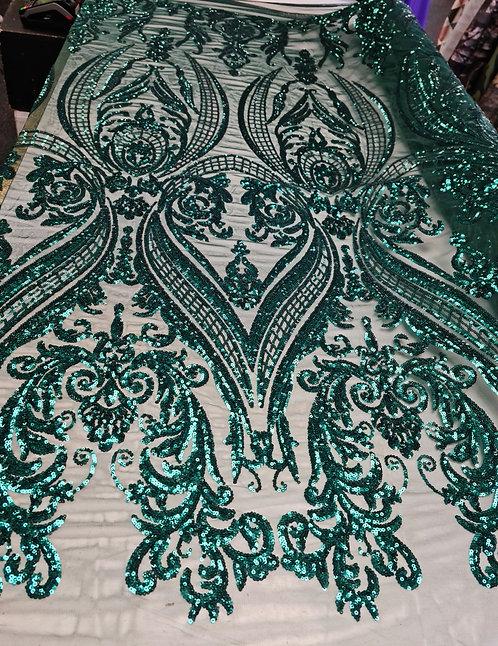 Helen Sequin Tulle Bottle Green