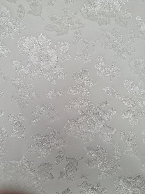 Designer Prints Silk Brocade.. Silk White