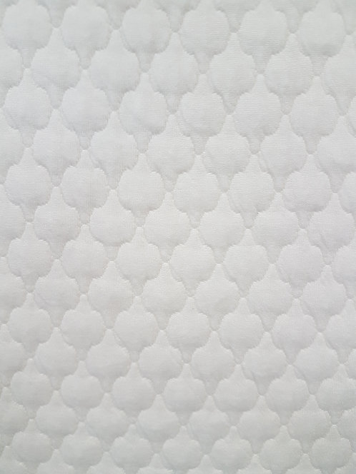 Honeycomb Quilted Knit Cream