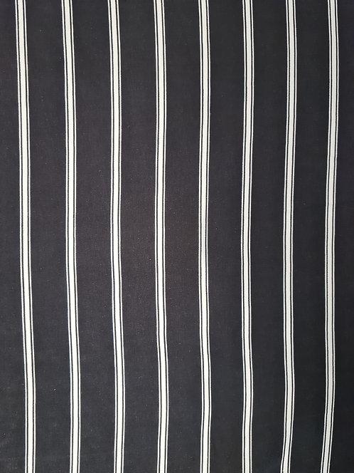 Fine Stripe Rayon Black/White