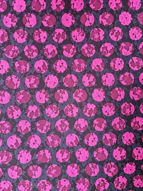 Self Spot Lace Pink/Navy