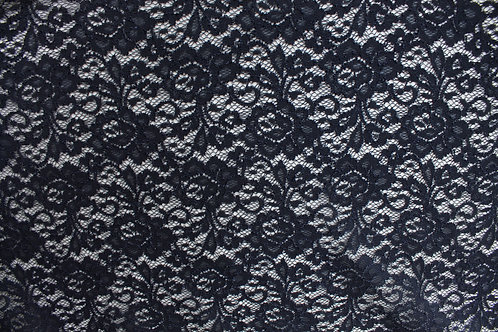 Navy Blue Corded Lace