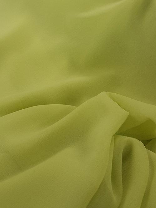 Polyester Chiffon Yellow Lime