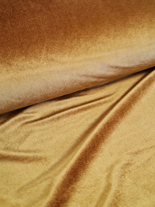 Luxury Stretch Velvet Old Gold