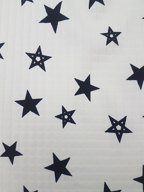 Star Bright Quilted Sateen Cream/Black