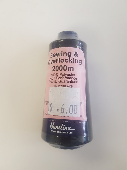 Sewing & Overlocking Thread 2000m Black