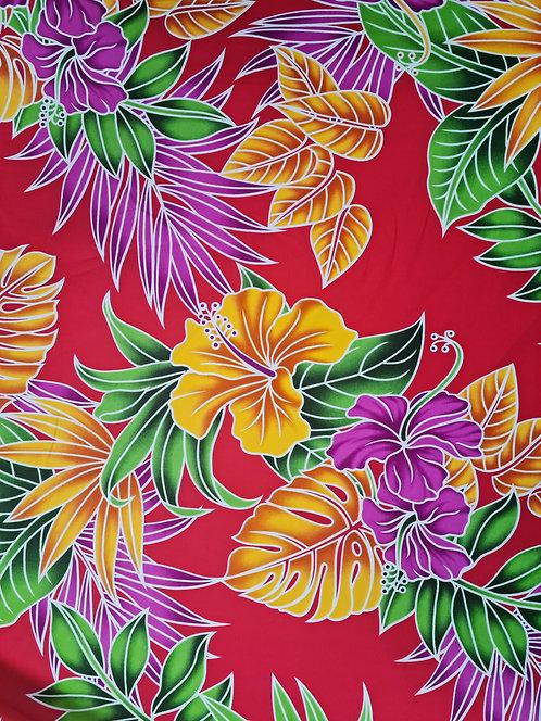 Tropic Bouquet Cotton Print Red