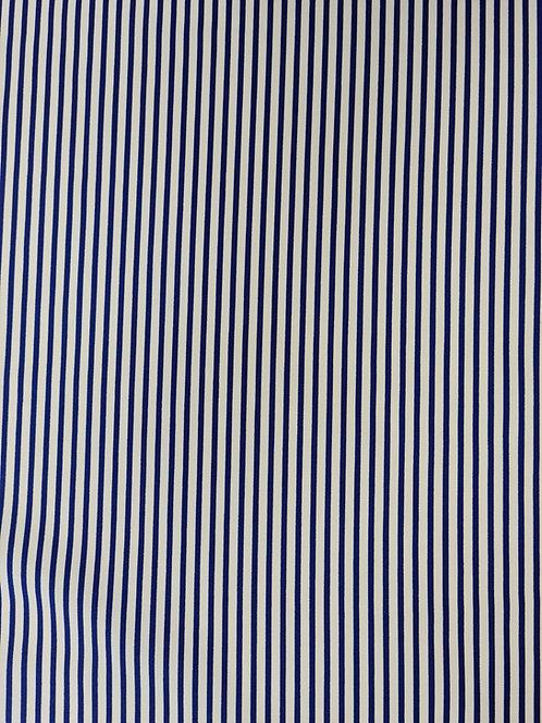 Smart Stripe Cotton Print Navy/White