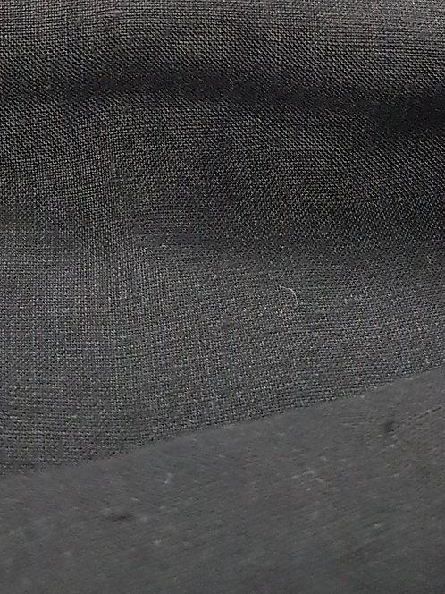 100% Turkish Linen Black