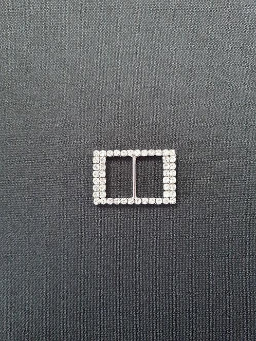 Rectangle diamante Buckle 3.50cm Long