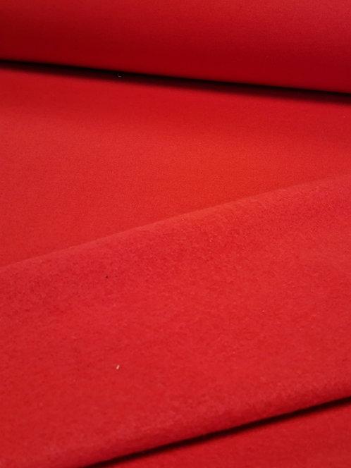 Brushed Sweatshirting Red