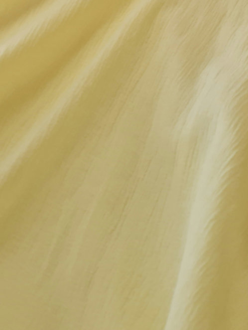 Crinkle Cotton Muslin Pale Yellow
