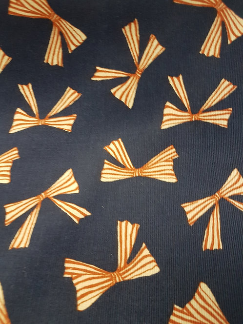 Pretty Bows Printed Corduroy Navy