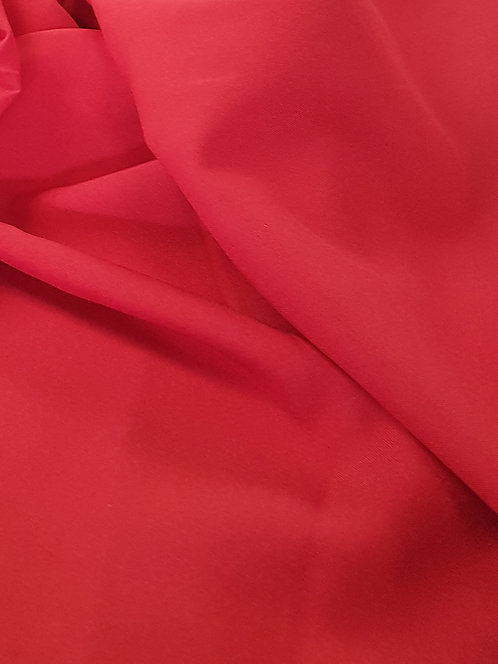 Mini Matt Polyester Suiting Red