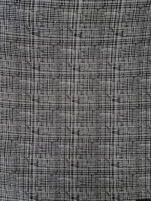 Crosshatch Rayon Black/White