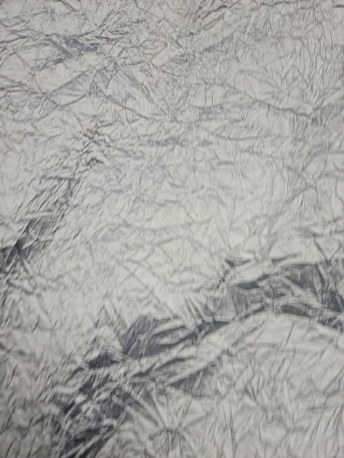 Designer Prints Crushed Dupion Silk Silver