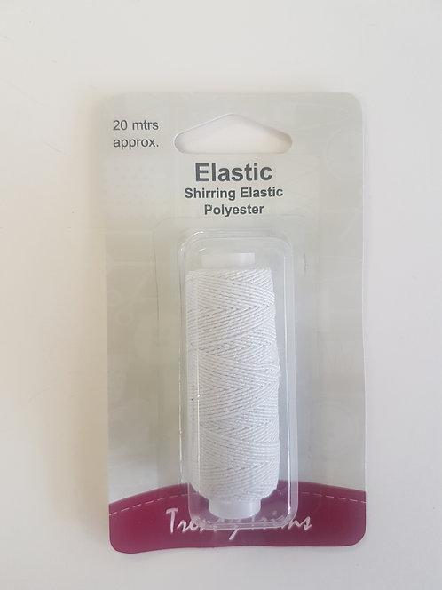 Shirring Elastic 20 metres White