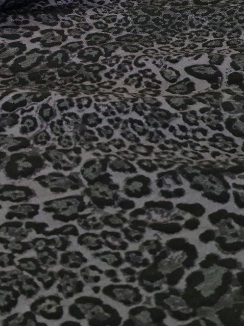 Leopard Print Bengaline Grey/Black