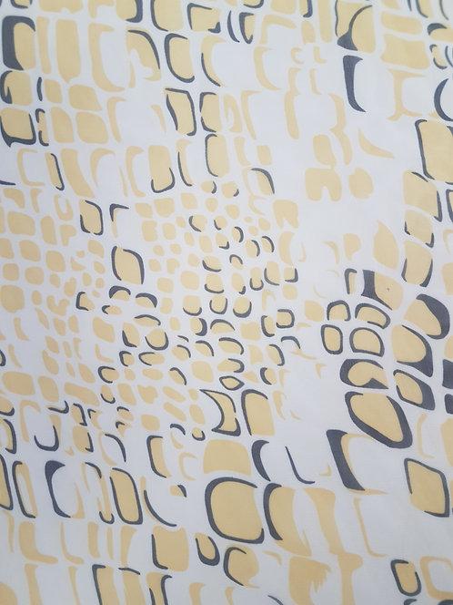 Crocodile Print Polyester Chiffon Yellow