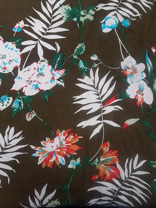 Tropical Linen Print Moss