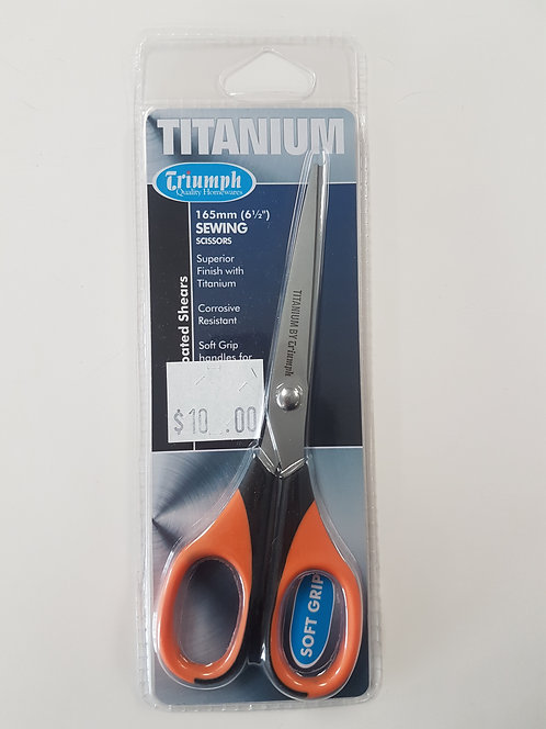 Titanium Sewing Scissors 165mm (6 1/2 inch)