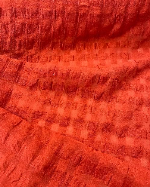 Annaba Linen Cotton Seersucker Paprika