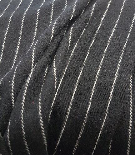 Black & White Stripe Winter Coating