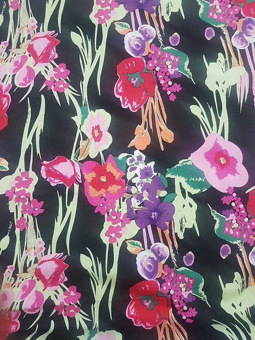 Pansy Floral Cotton Sateen