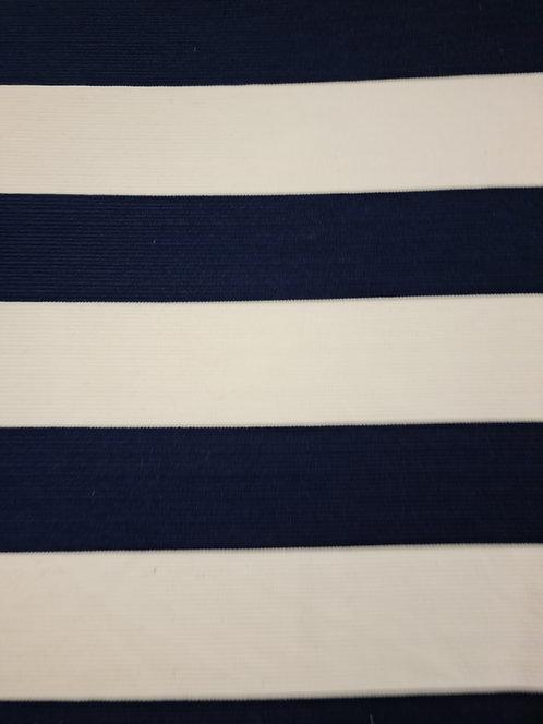 Rocco Wide Ponti Stripe Ribbed Navy/White