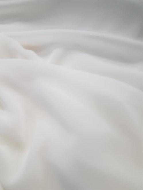 Polyester Chiffon Ivory