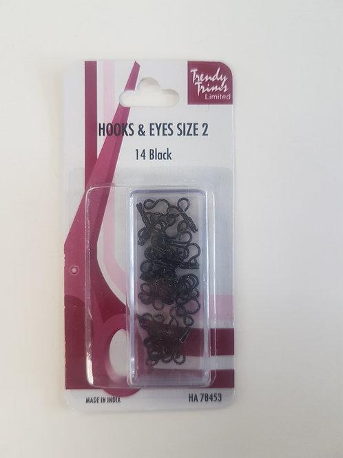 Hooks & Eyes Size 2