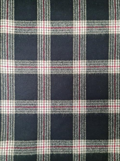 Check Wool Mix Coating