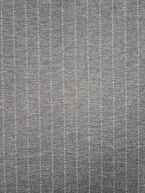 New Seasons Stripe  Ponti Knit Charcoal