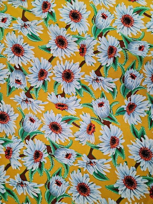 Daisy Delight Printed Rayon Yellow