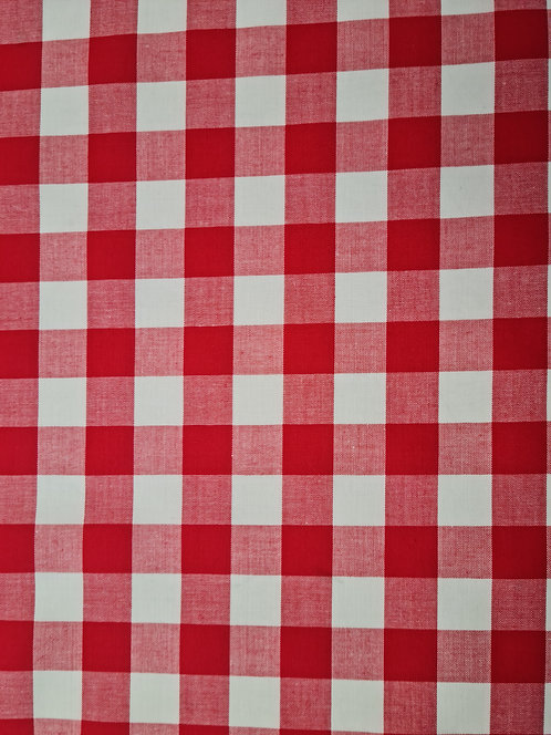 Gingham 1/2 Inch Red