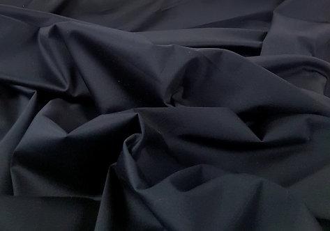 Stretch Cotton Sateen Black