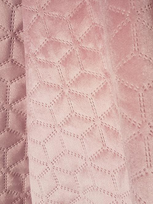 Virginia Embossed Velvet Dusky Pink