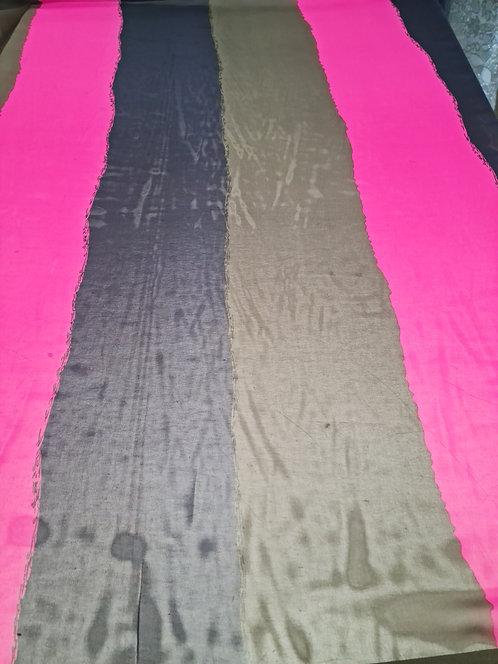 Wide Stripe Polyester Chiffon