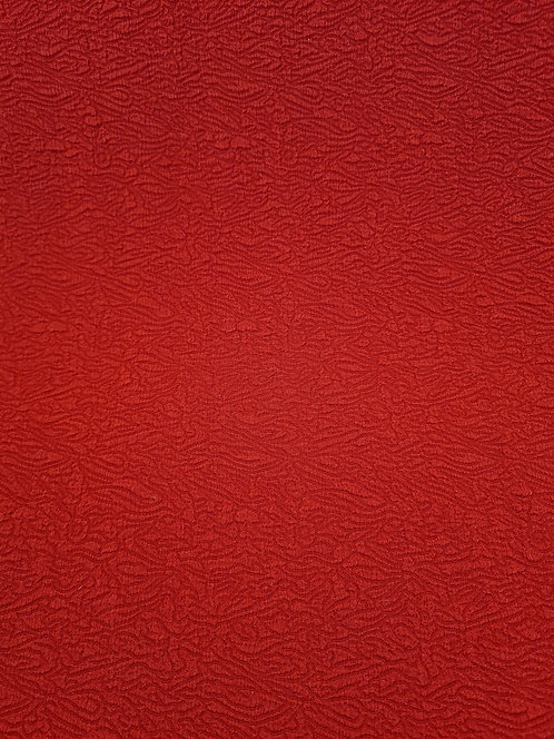 Embossed Polyester Knit Red