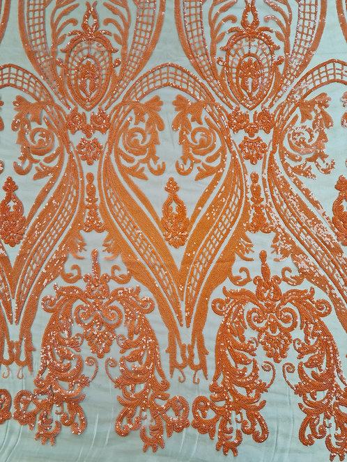 Sequin Designer Tulle Orange