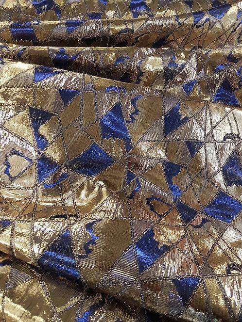 Abstract Lame Gold/Royal