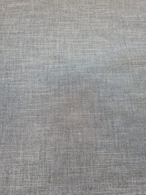 Crosshatch Cotton Chambray Cement