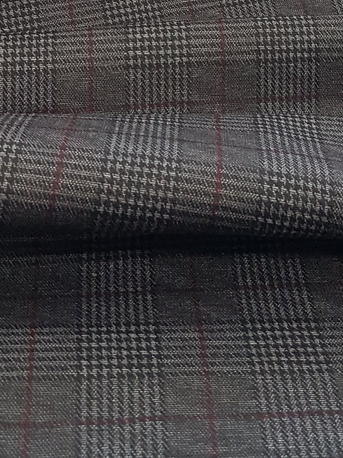 Prince of Wales Check Ponti  Red