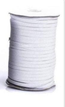 3mm General Elastic White per metre