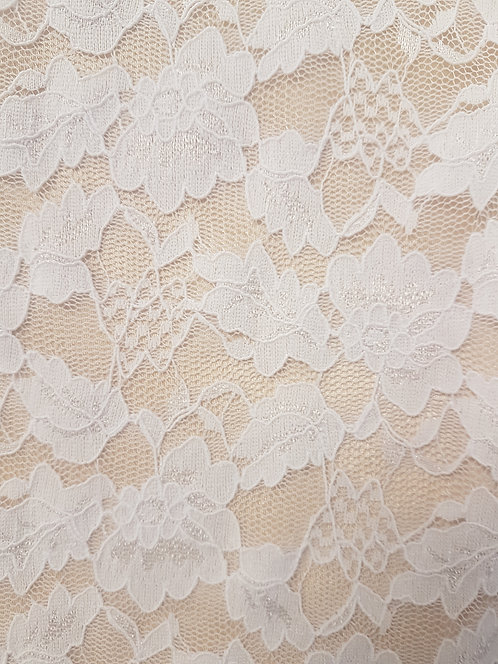 White Corded Stretch Lace