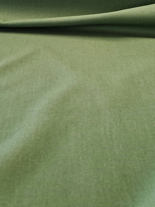 Mika Cotton Linen Mix Grassy Green